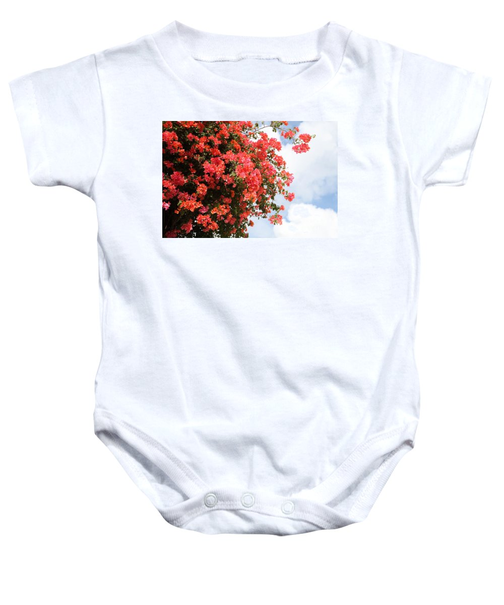 Hawaii Baby Onesie featuring the photograph Flowering Tree by Nadine Rippelmeyer