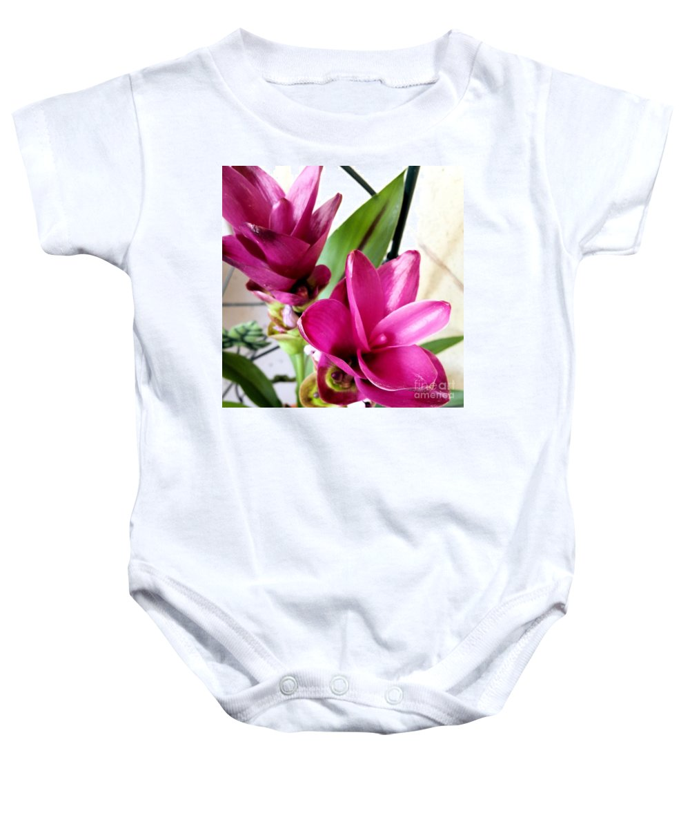 Flowers Baby Onesie featuring the photograph Flowers by Katherine W Morse