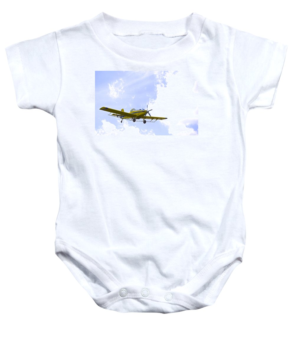 Airplane Baby Onesie featuring the photograph Flying By Wire 1 Of 6 by Charlie Brock