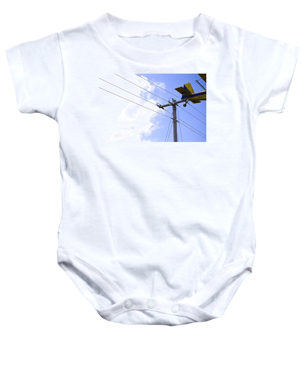 Plane Baby Onesie featuring the photograph Flying By Wire 6 Of 6 by Charlie Brock