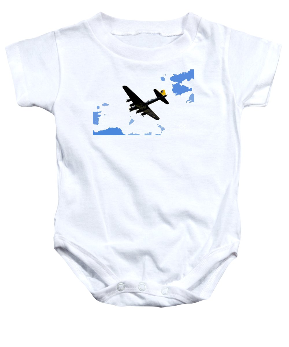 B 17 Baby Onesie featuring the photograph Flying For Home by David Lee Thompson