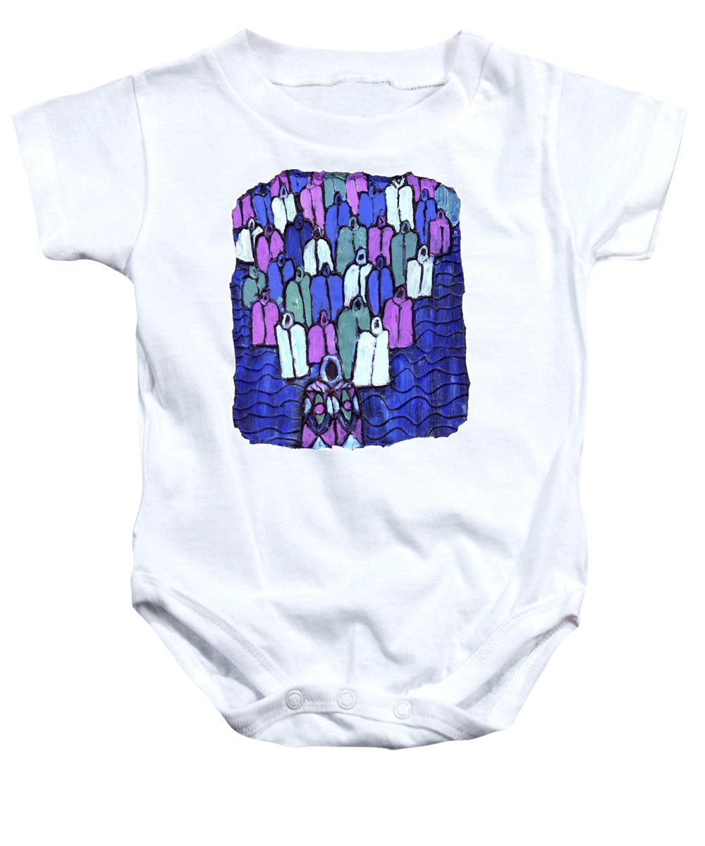 Ancestors Baby Onesie featuring the painting Following The Ancestors by Wayne Potrafka