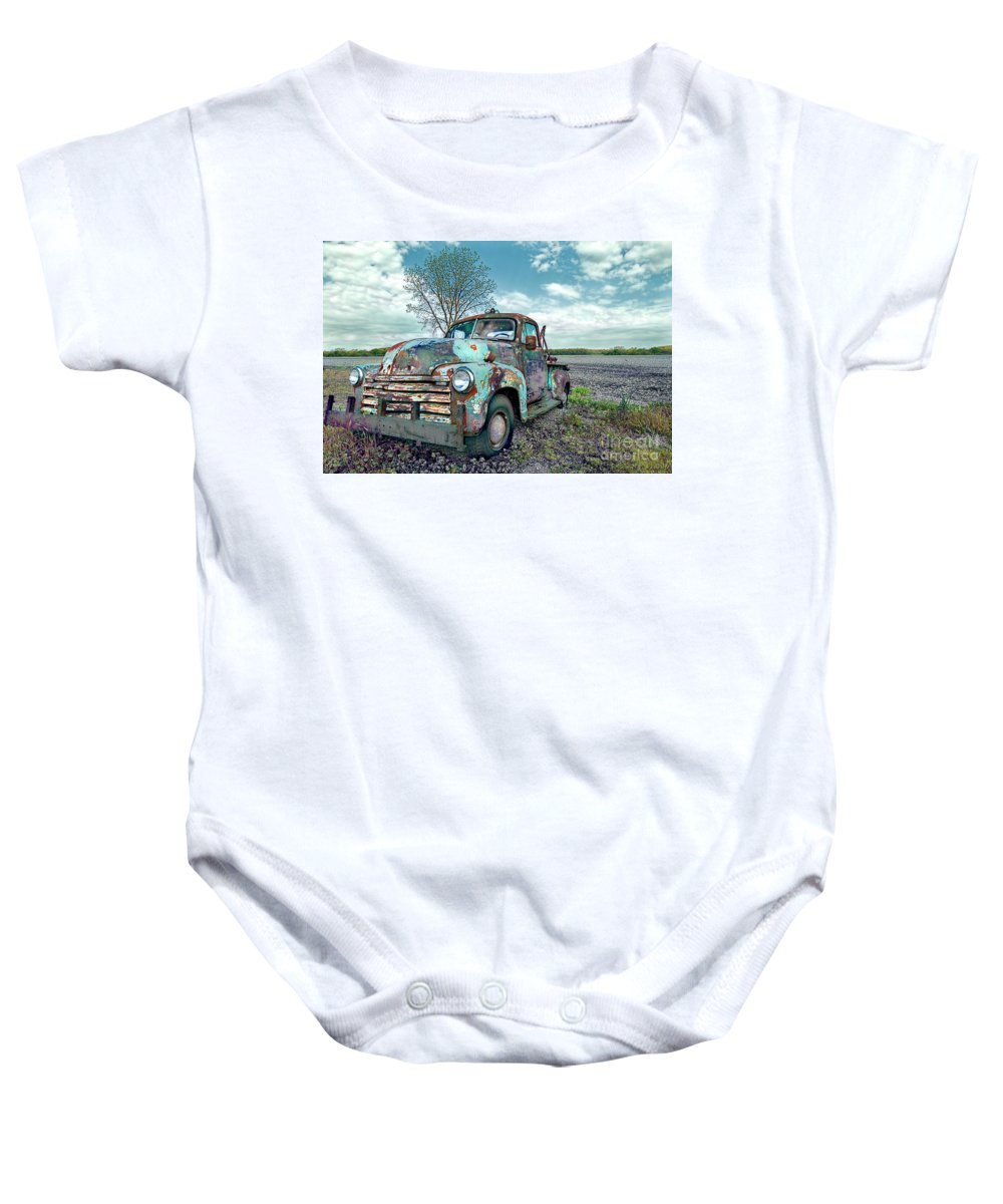 Truck Baby Onesie featuring the photograph For Whom The Truck Tows by David Arment