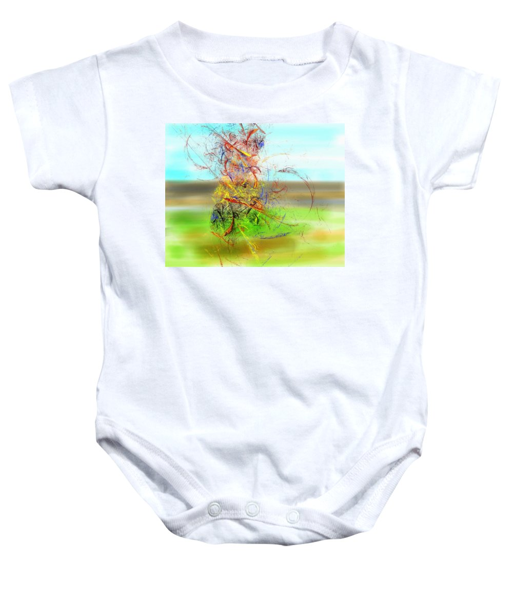 Digital Painting Baby Onesie featuring the digital art Fore by David Lane