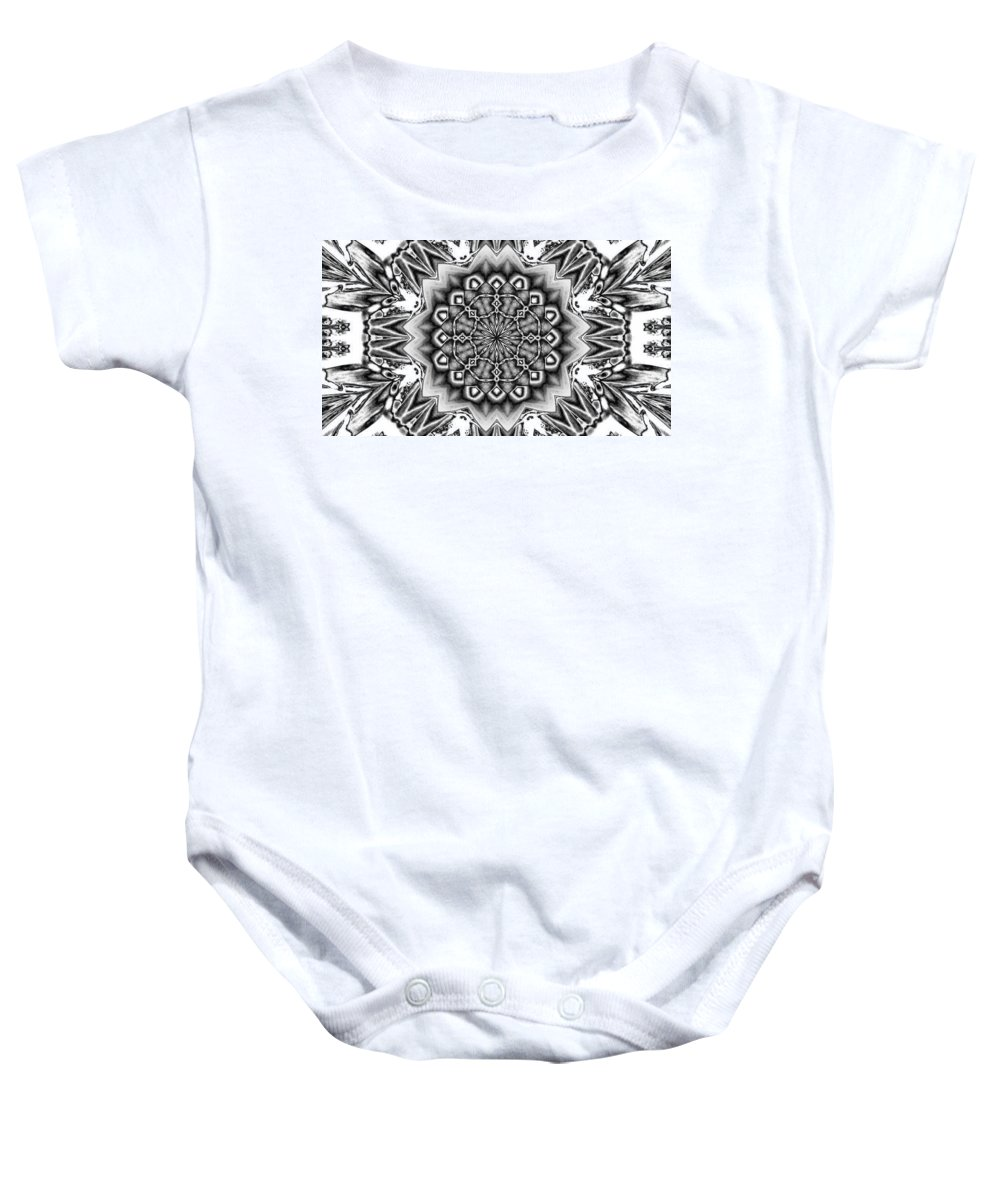 Digital Art Baby Onesie featuring the digital art Fractal 12 by Belinda Cox