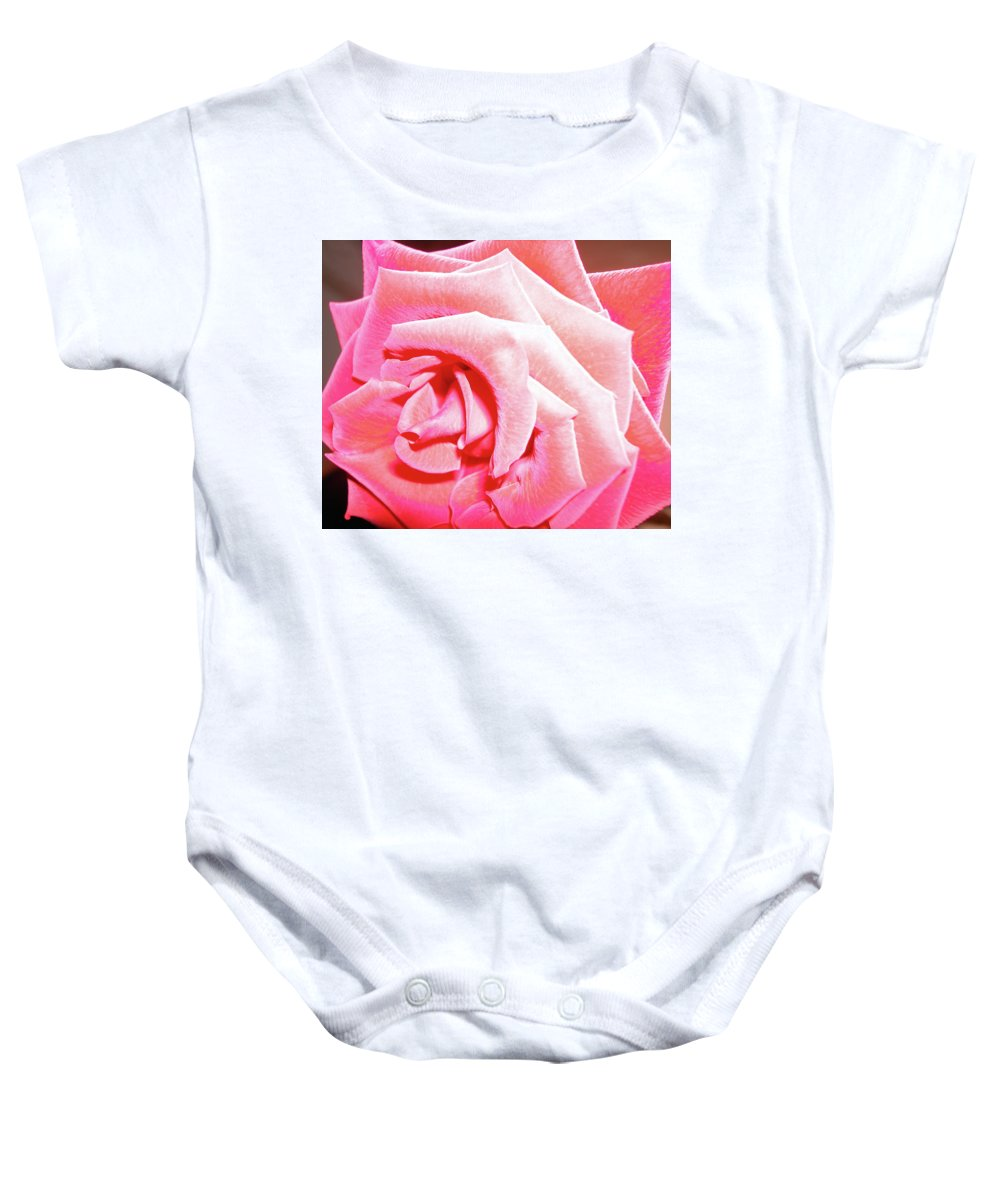 Rose Baby Onesie featuring the photograph Fragrant Rose by Marie Hicks