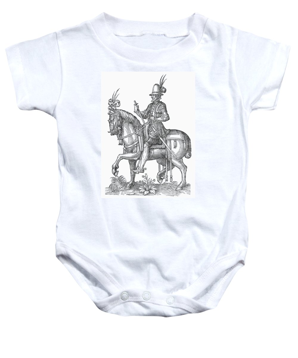 1572 Baby Onesie featuring the photograph France: Officer, 1572 by Granger