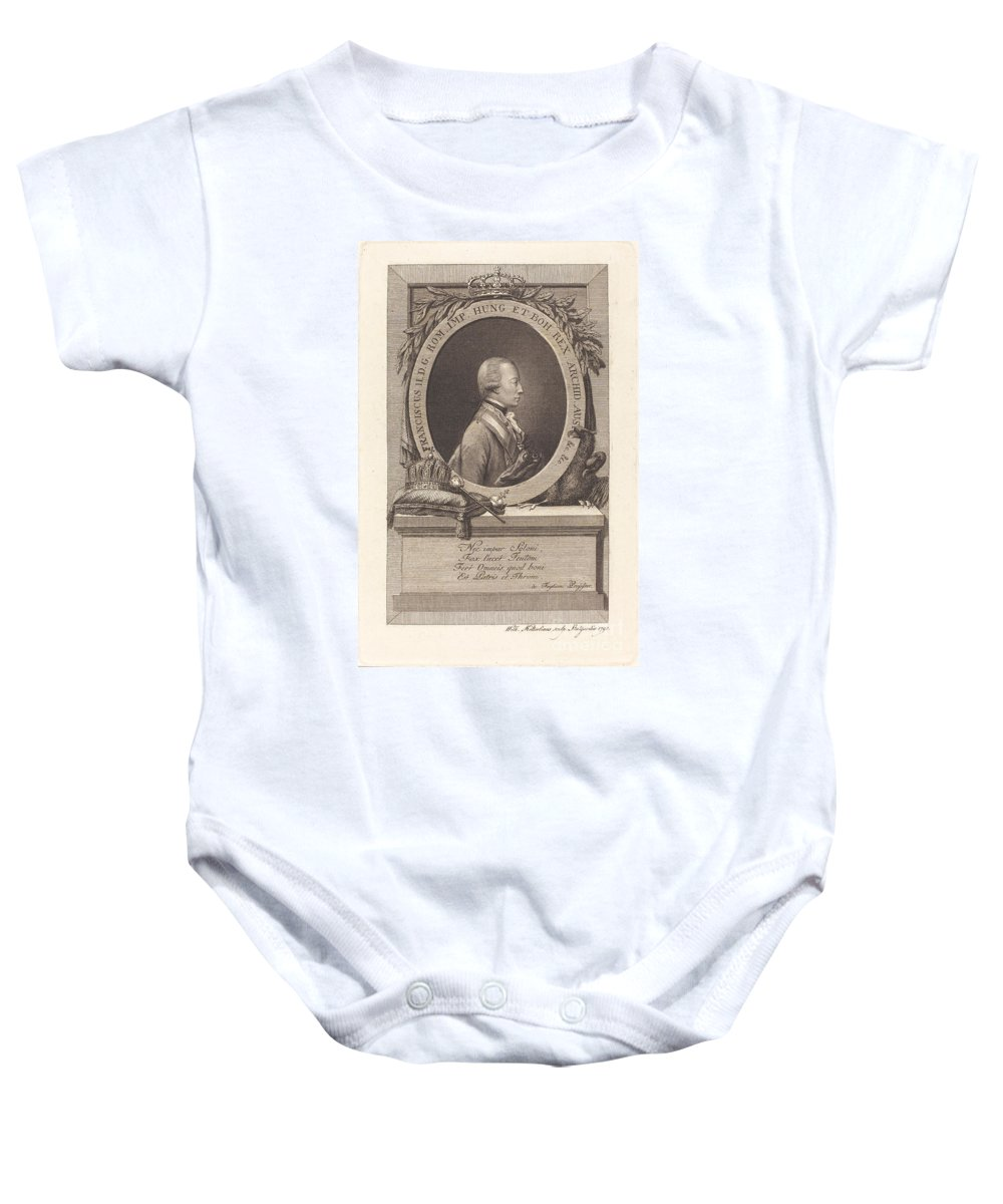 Baby Onesie featuring the drawing Francis II, Holy Roman Emperor by Christian Wilhelm Ketterlinus