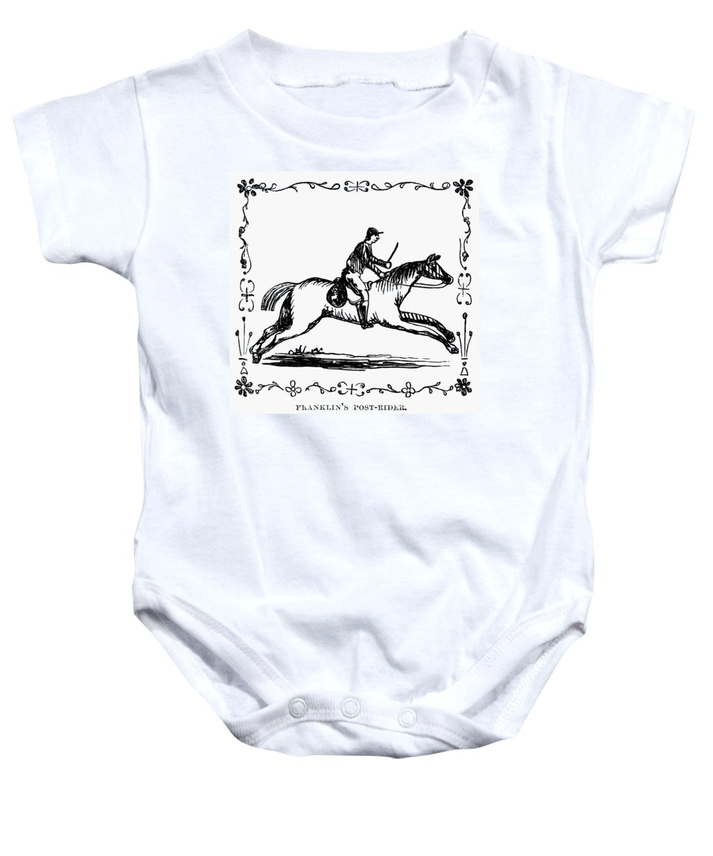 1775 Baby Onesie featuring the photograph Franklin: Post Rider, 1775 by Granger