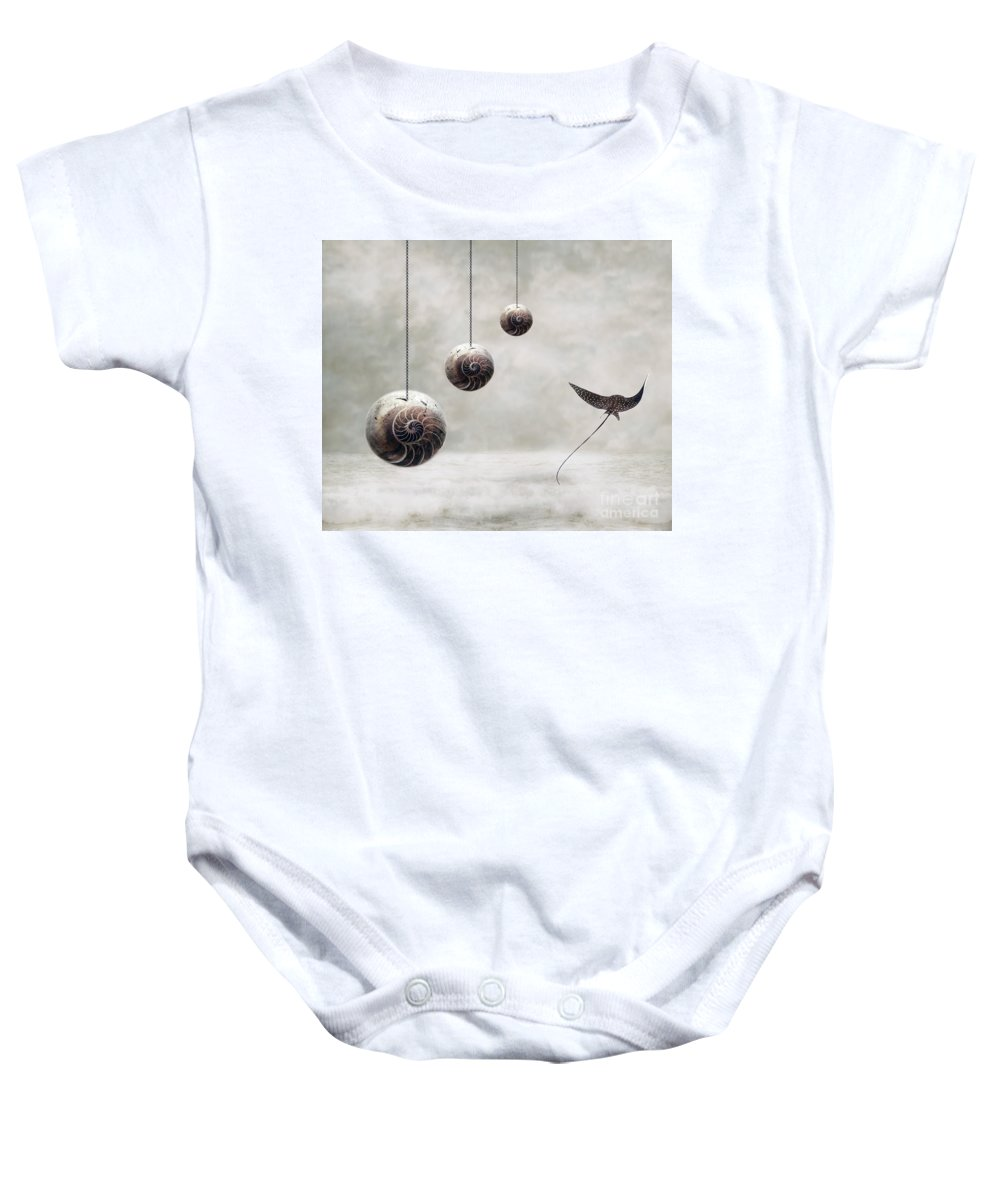 Surrealism Baby Onesie featuring the photograph Free by Jacky Gerritsen
