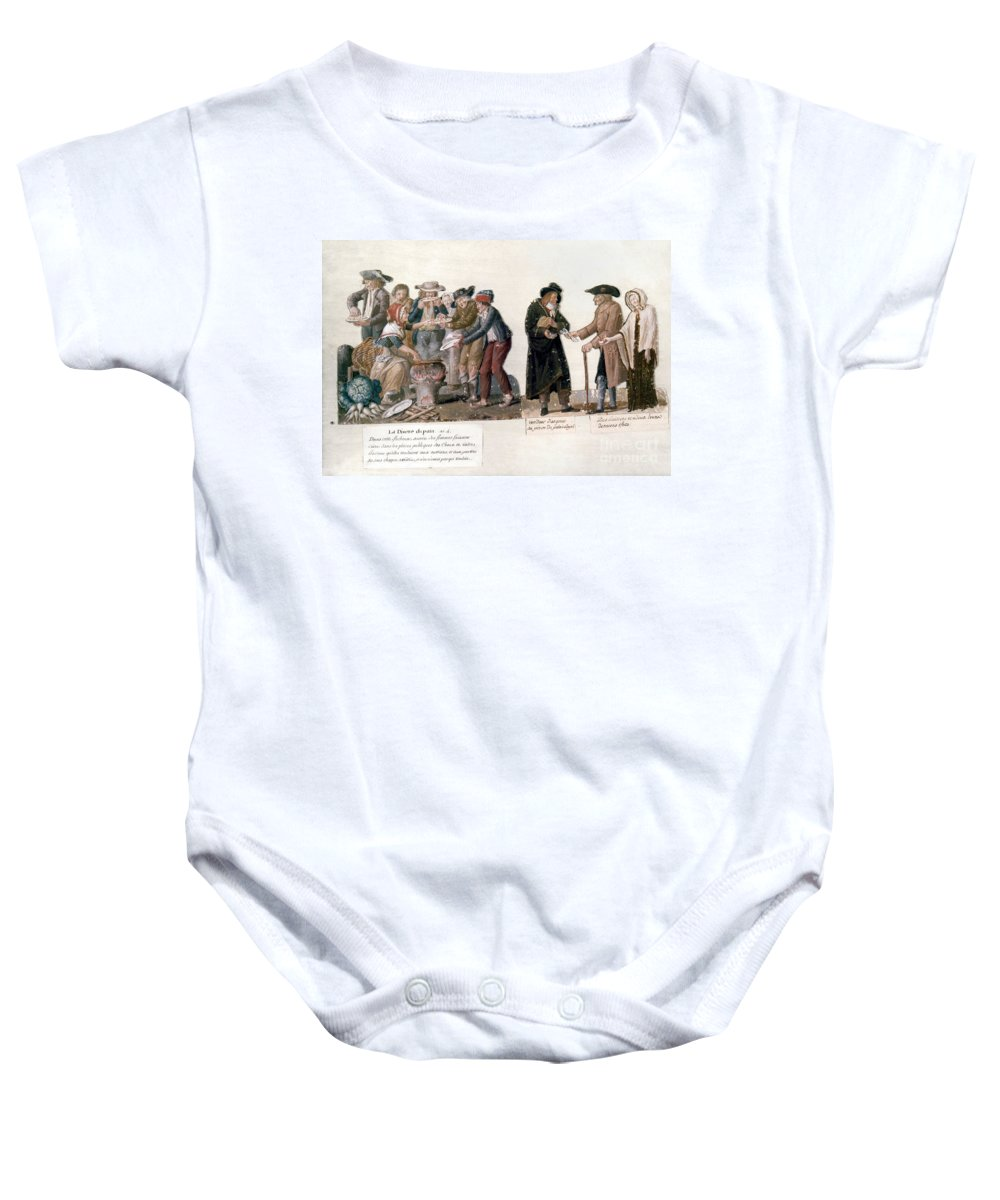 1795 Baby Onesie featuring the photograph French Revolution, 1795-96 by Granger