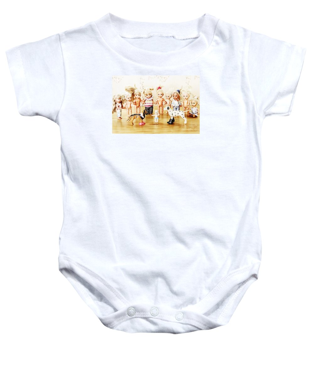 Doll Baby Onesie featuring the photograph From Life Of Toys by Elena Lir-Rachkovskaya
