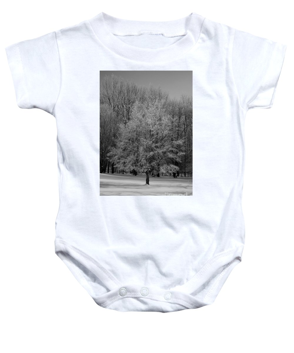 Landscape Baby Onesie featuring the photograph Frosted by Brook Steed