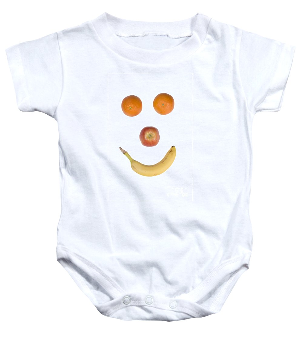 Fruit Baby Onesie featuring the photograph Fruity Happy Face by James BO Insogna
