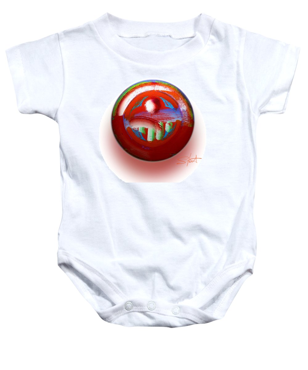 Mother Earth Baby Onesie featuring the painting Gaeia by Charles Stuart