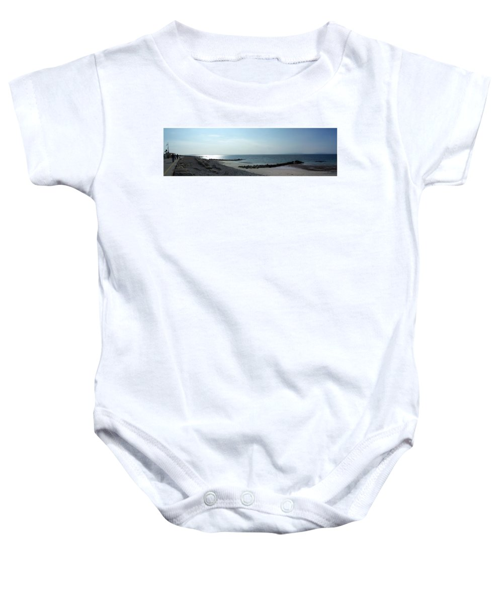 Irish Baby Onesie featuring the photograph Galway Bay At Salt Hill Park Galway Ireland by Teresa Mucha