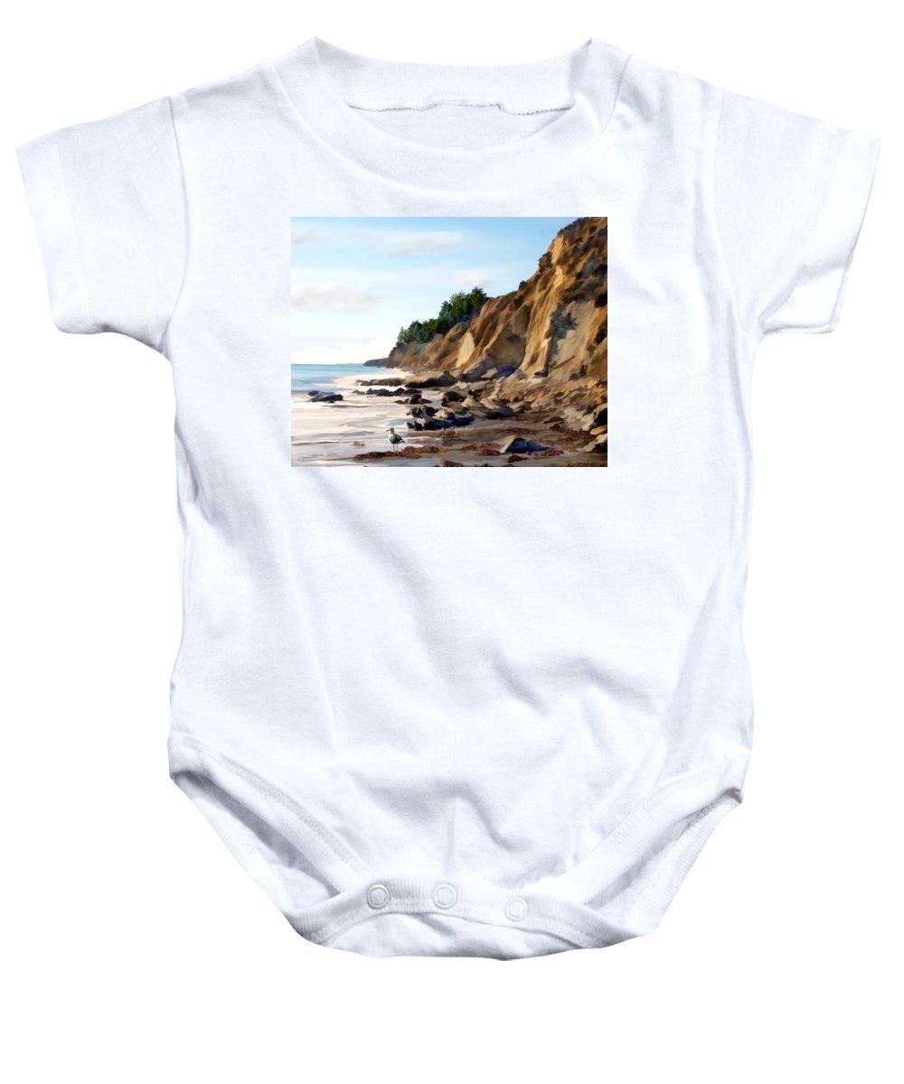 Ocean Baby Onesie featuring the photograph Gaviota by Kurt Van Wagner