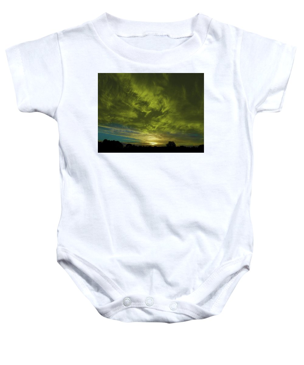 Sunset Baby Onesie featuring the photograph Gem Sunset by Mark Blauhoefer