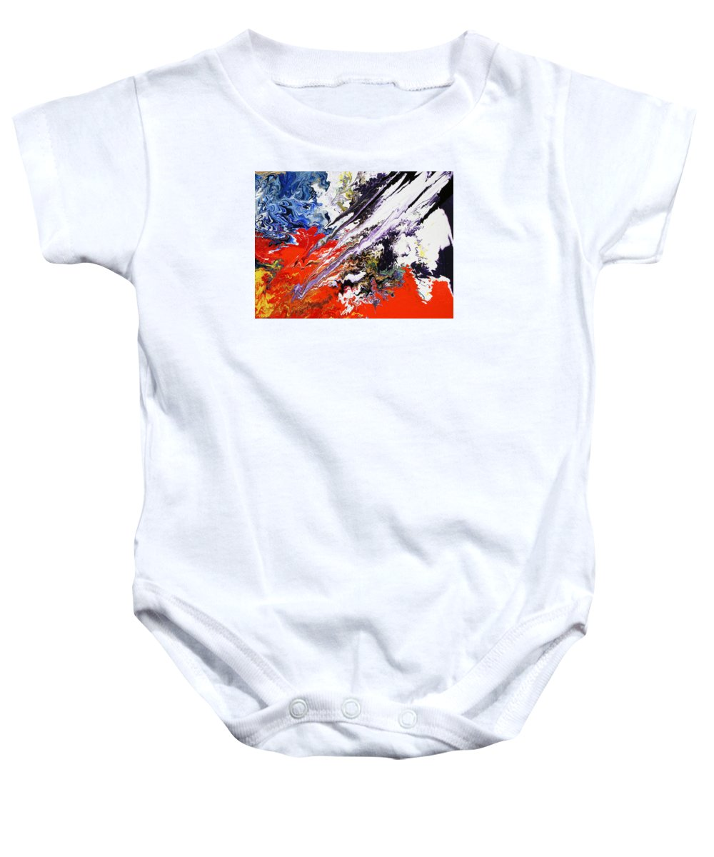 Fusionart Baby Onesie featuring the painting Genesis by Ralph White