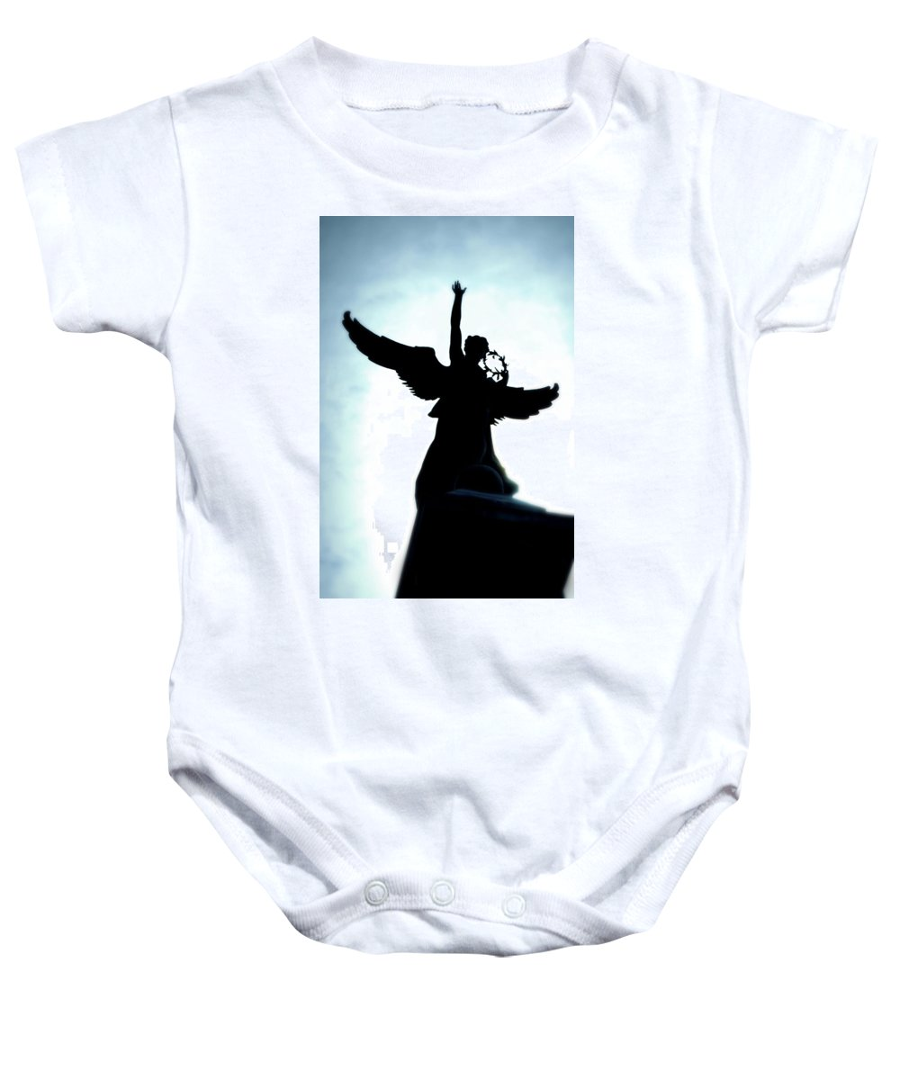 Angel Baby Onesie featuring the photograph Georges-etienne Cartier Monument by Lisa Knechtel