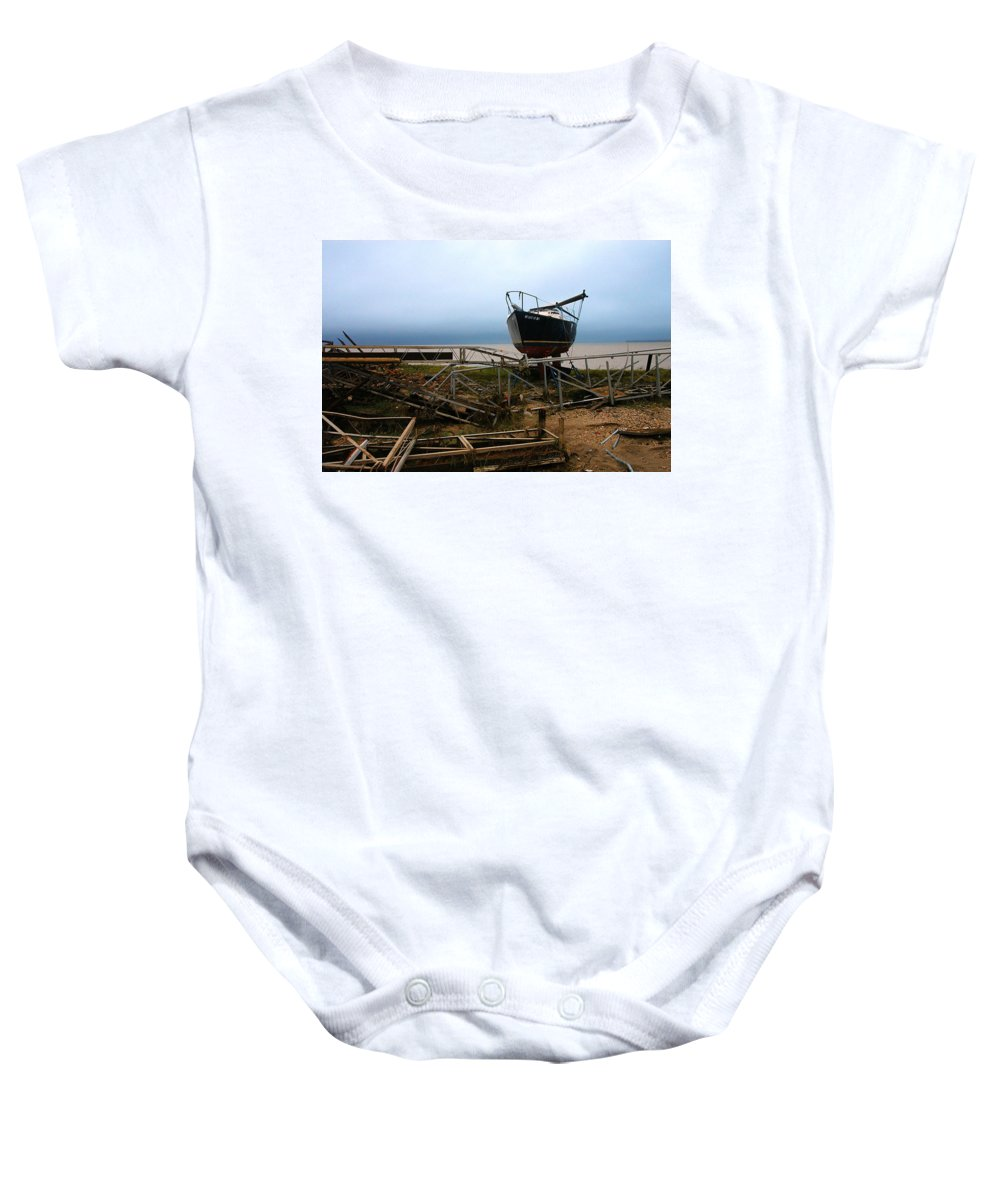 Clay Baby Onesie featuring the photograph Ghost by Clayton Bruster