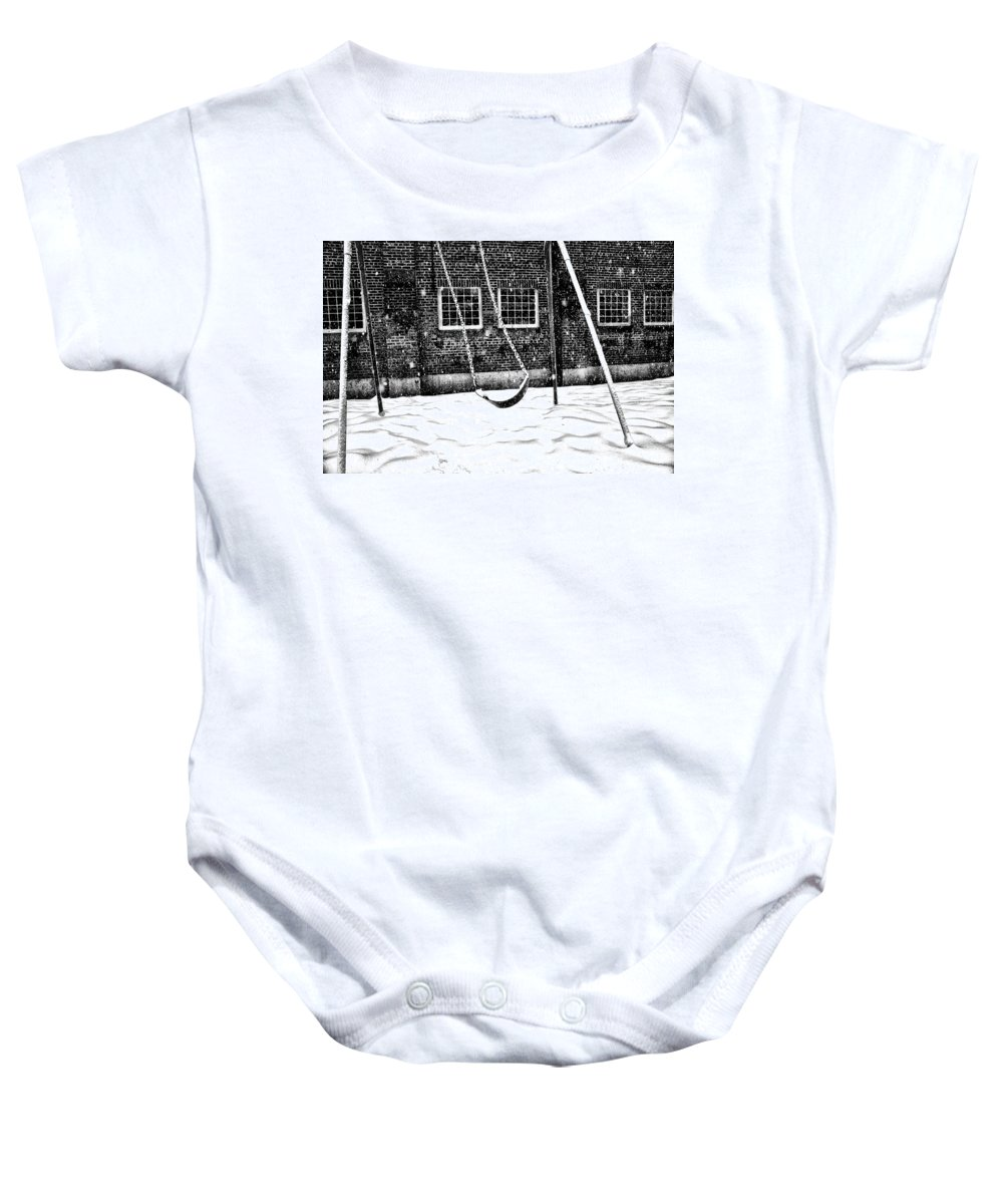 Swing Baby Onesie featuring the photograph Ghost On A Swing by Bill Cannon