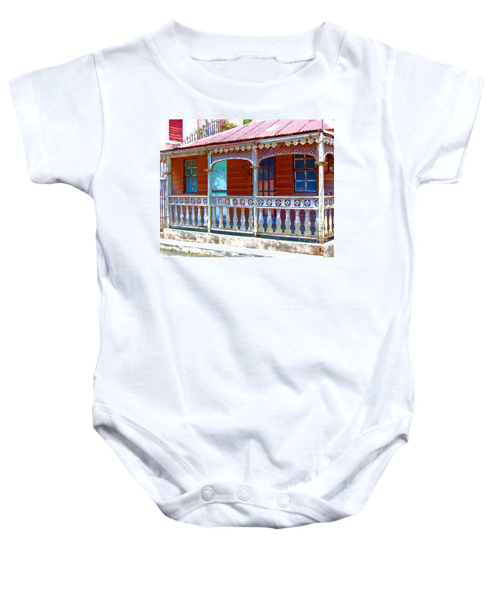 House Baby Onesie featuring the photograph Gingerbread House by Debbi Granruth