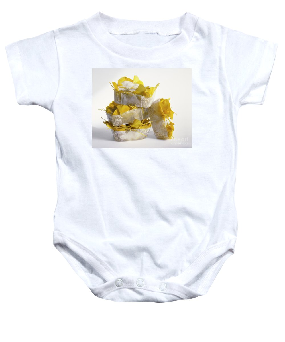 Icy Baby Onesie featuring the photograph Ginkobiloba by Stefania Levi