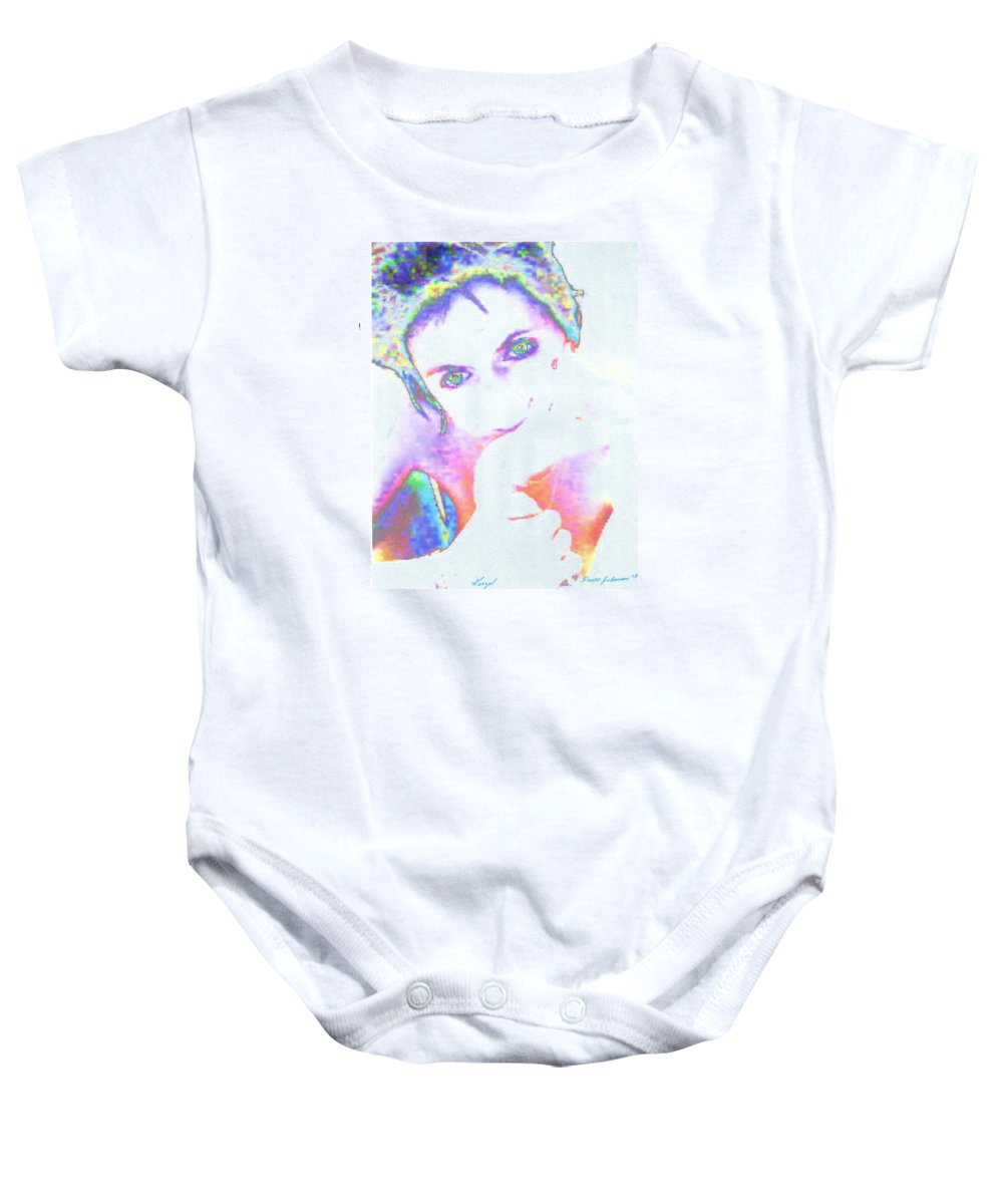 Portrate Of A French Girl Baby Onesie featuring the photograph Gisele by Dawn Johansen