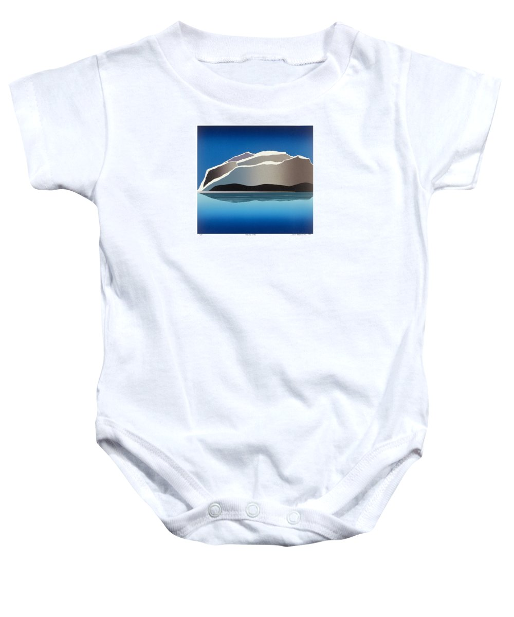 Landscape Baby Onesie featuring the mixed media Glaciers by Jarle Rosseland