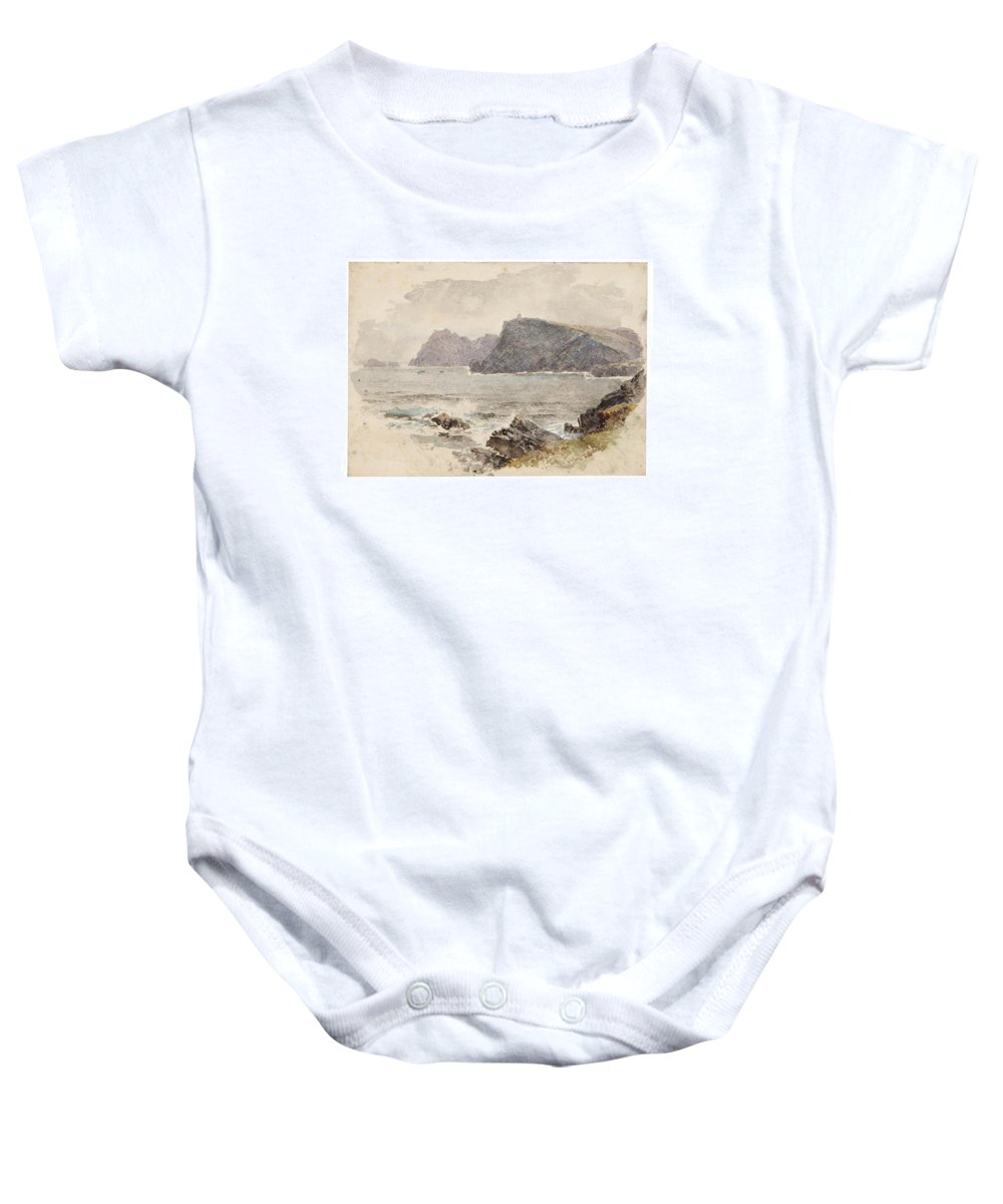 William Trost Richards (american Baby Onesie featuring the painting Glen Head by William Trost