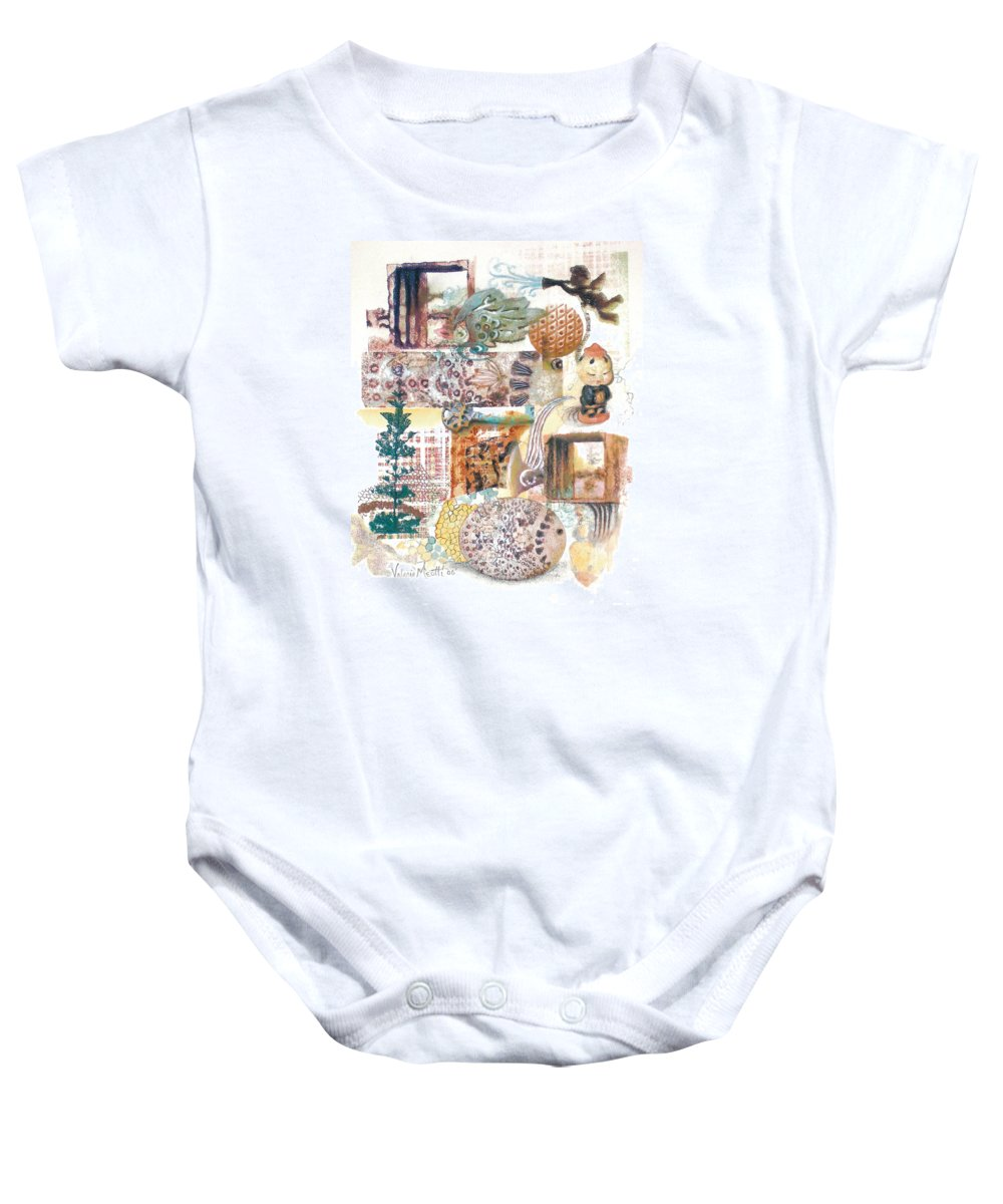 Abstract Baby Onesie featuring the painting Go With The Flow by Valerie Meotti