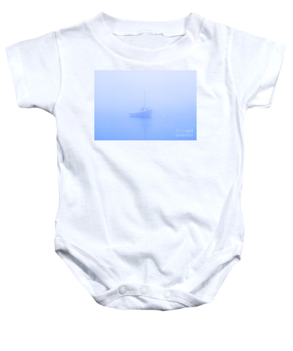 Boat Baby Onesie featuring the photograph Gog Boat by John Greim