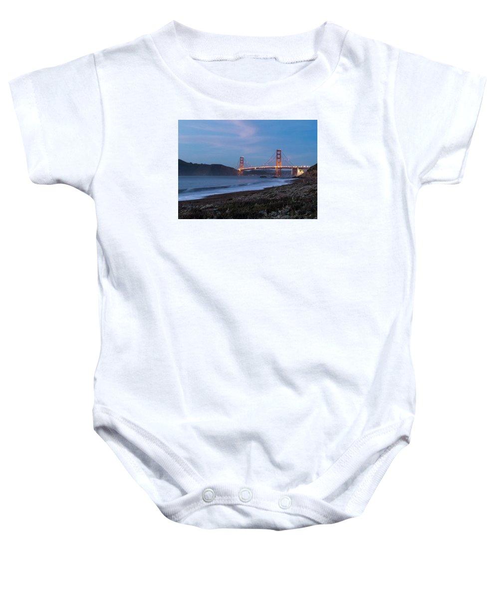 Golden Gate Baby Onesie featuring the photograph Golden Gate Bridge 2 by Patti Deters