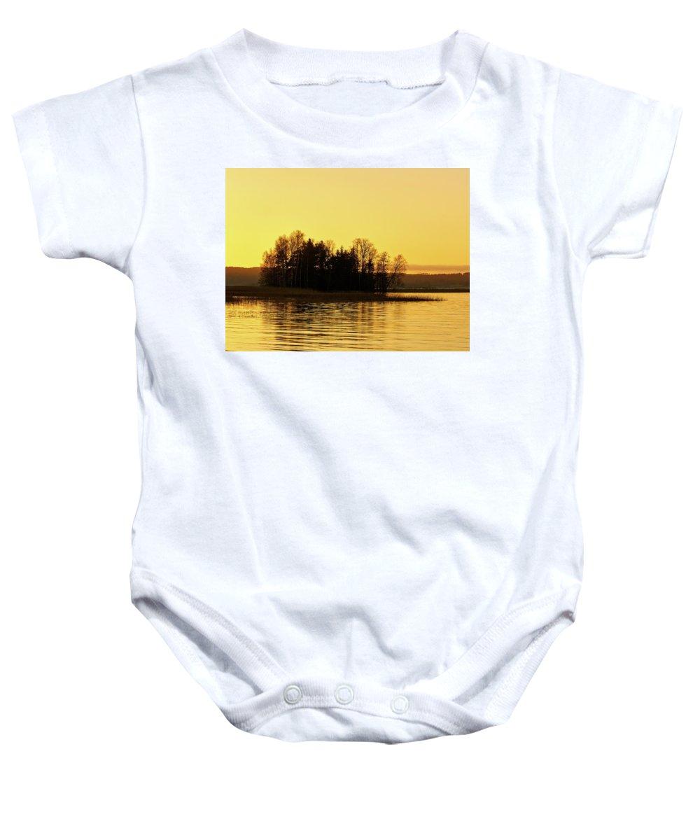 Finland Baby Onesie featuring the photograph Golden Light by Jouko Lehto