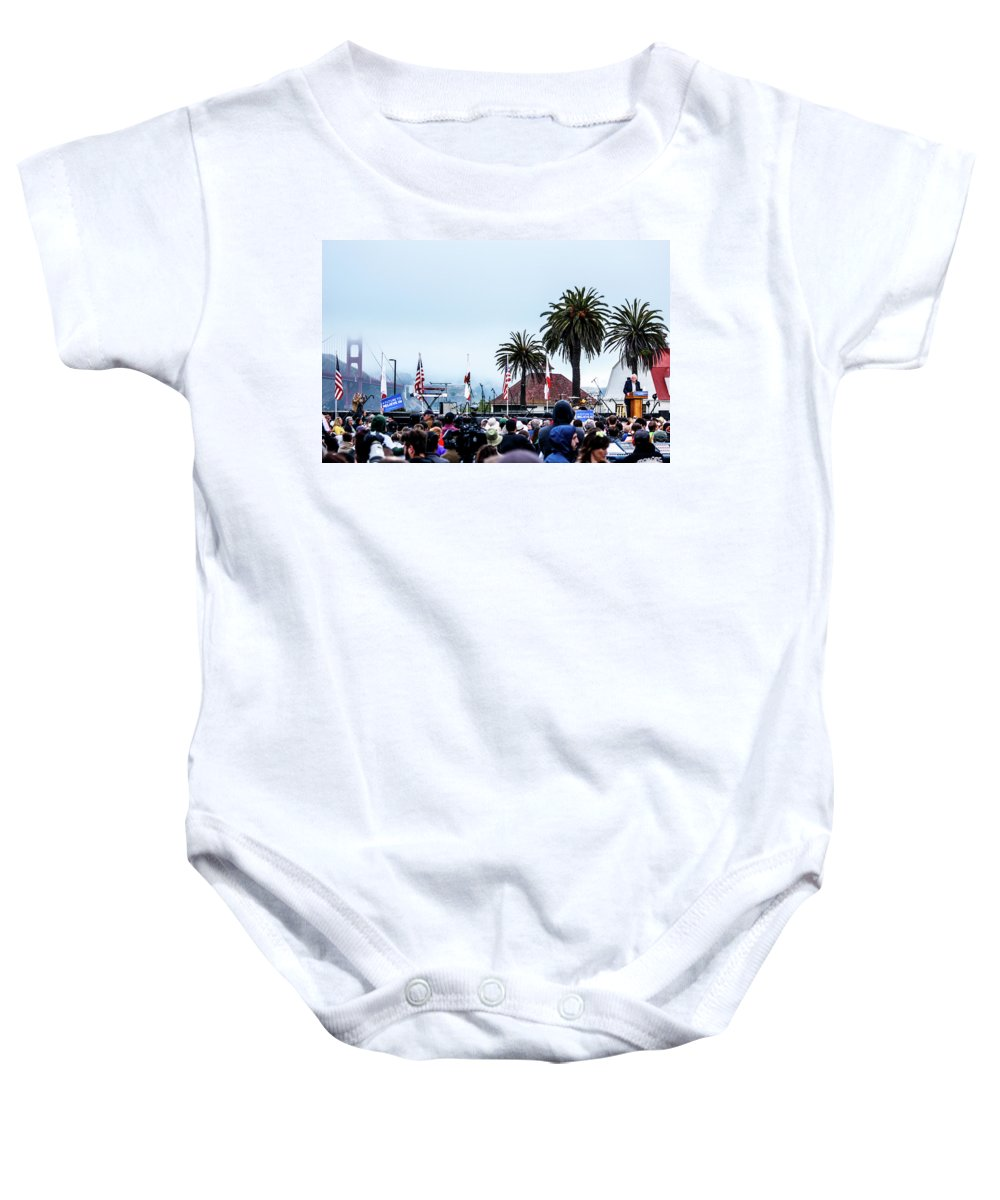 Feel The Bern Baby Onesie featuring the photograph Golden State Berners by Nick Mattea