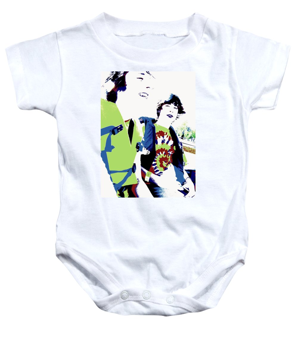 Good Friends Baby Onesie featuring the photograph Good Friends by Ed Smith