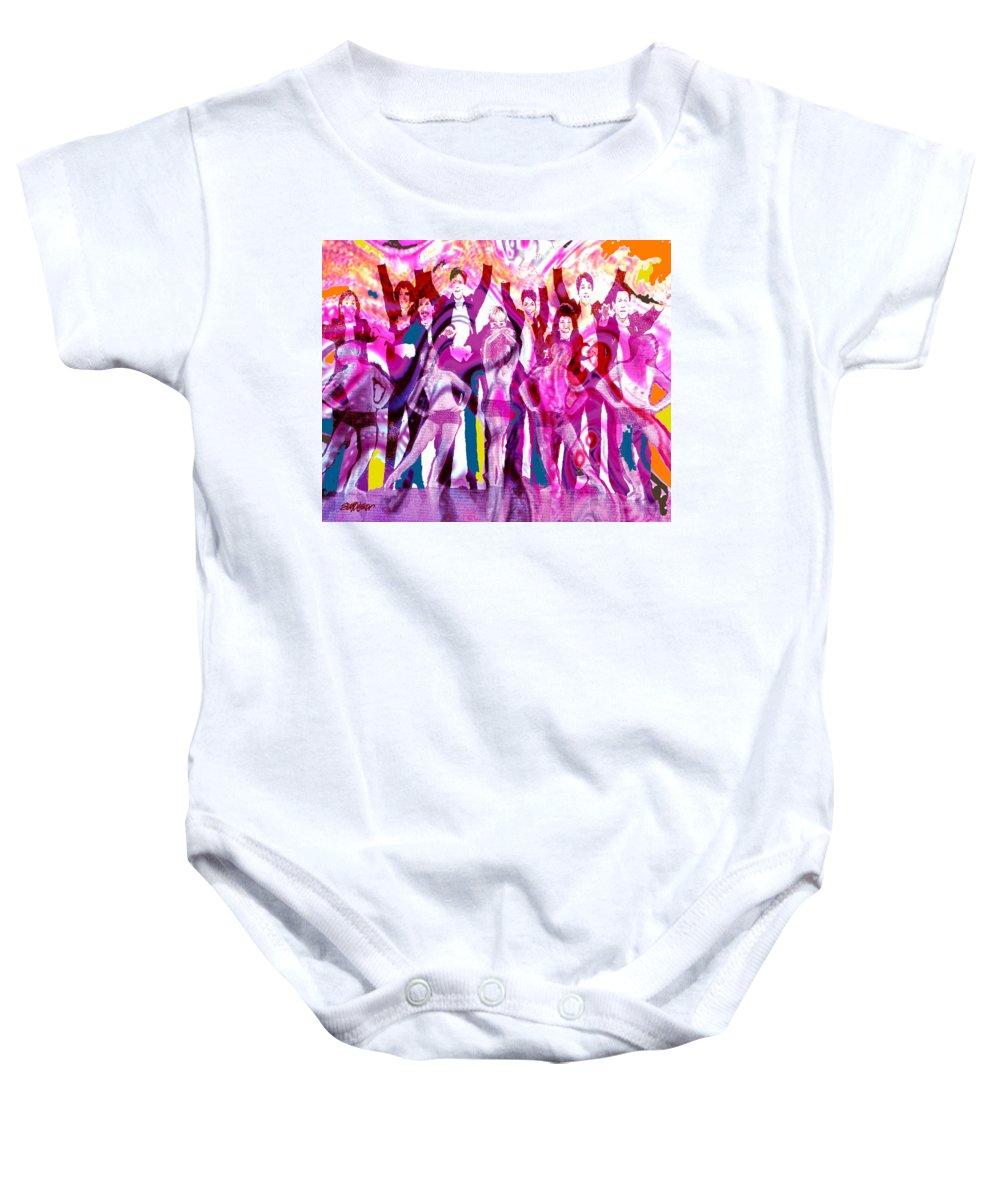 Joy Baby Onesie featuring the digital art Got To Dance by Seth Weaver