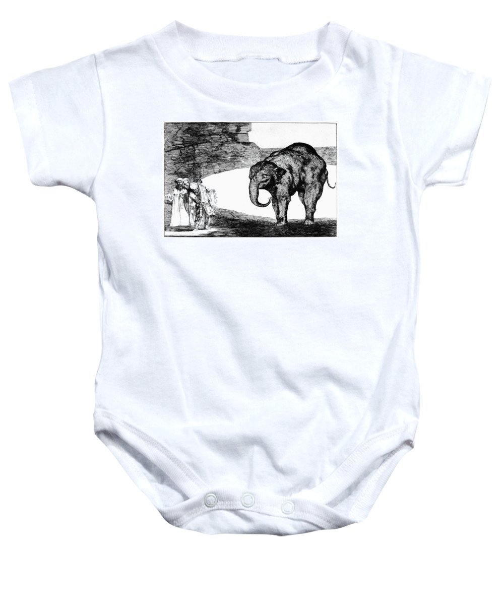 1820 Baby Onesie featuring the photograph Goya: Elephant, C1820 by Granger