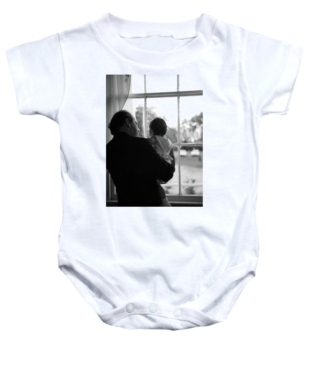 Grandson Portrait Child Baby Baby Onesie featuring the photograph Grandson by Angie Covey