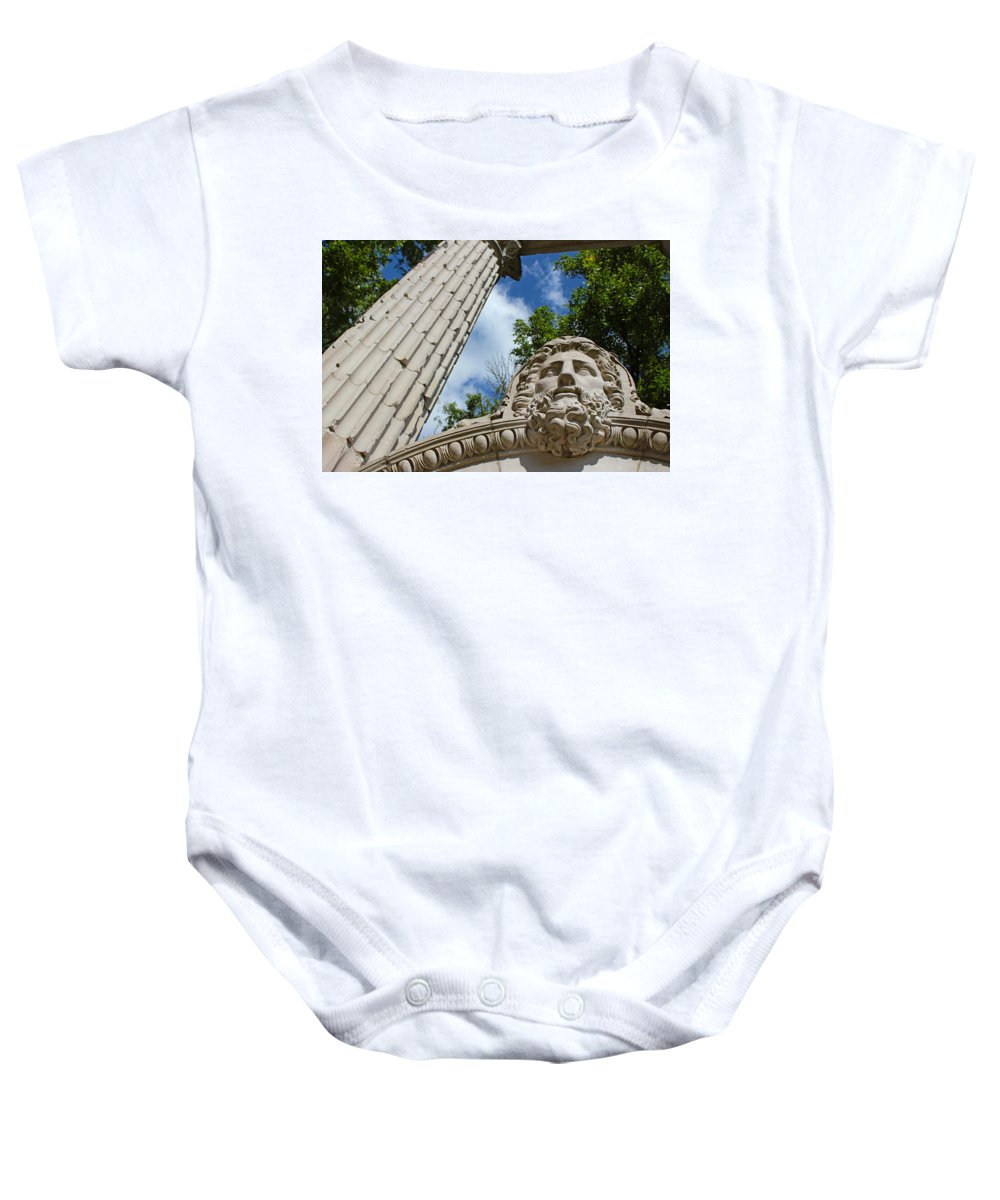 Scenic Baby Onesie featuring the photograph Granite Greatness - The Guild Inn by Spencer Bush
