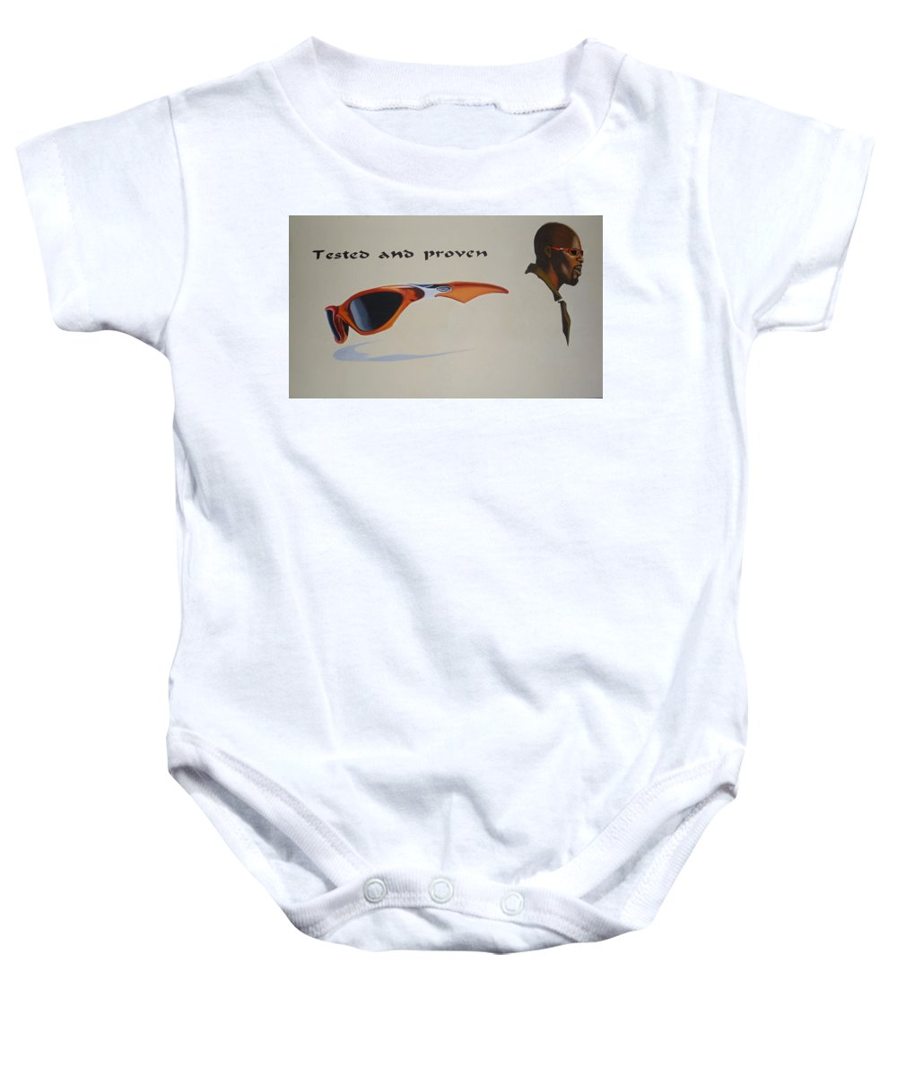 Paintings Baby Onesie featuring the painting Graphic Composition by Olaoluwa Smith