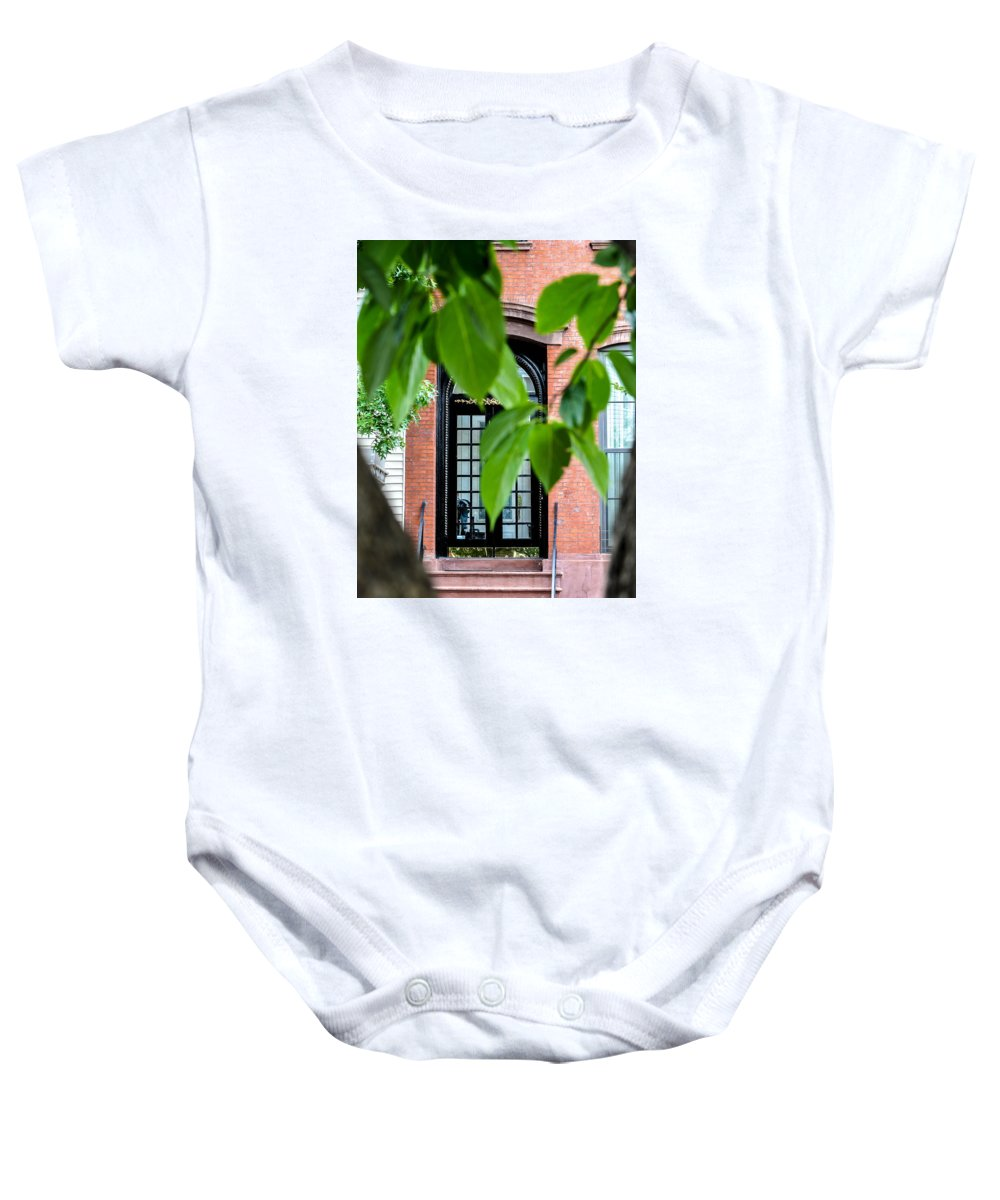 Green Baby Onesie featuring the photograph Green Distraction by Terepka Dariusz