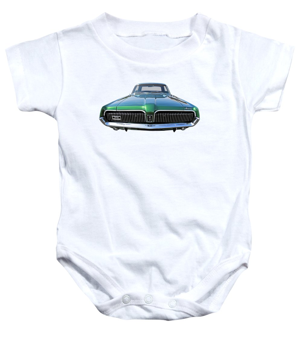 Ford Mercury Baby Onesie featuring the photograph Green With Envy - 68 Mercury by Gill Billington