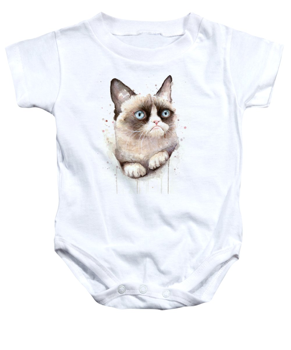 Watercolor Pet Portraits Baby Onesies