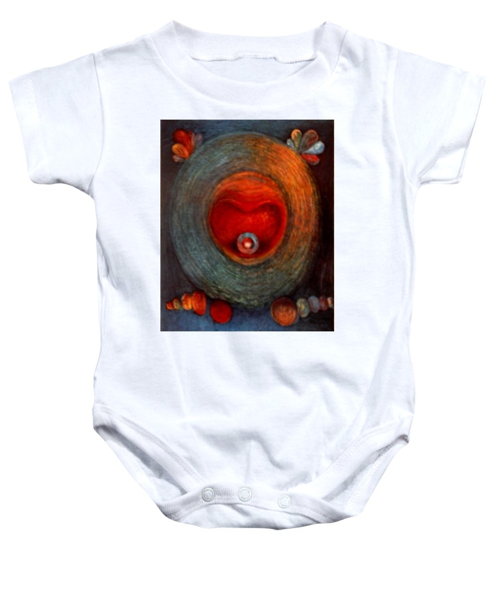 Religious Art Baby Onesie featuring the painting Gula by Alina Gorna