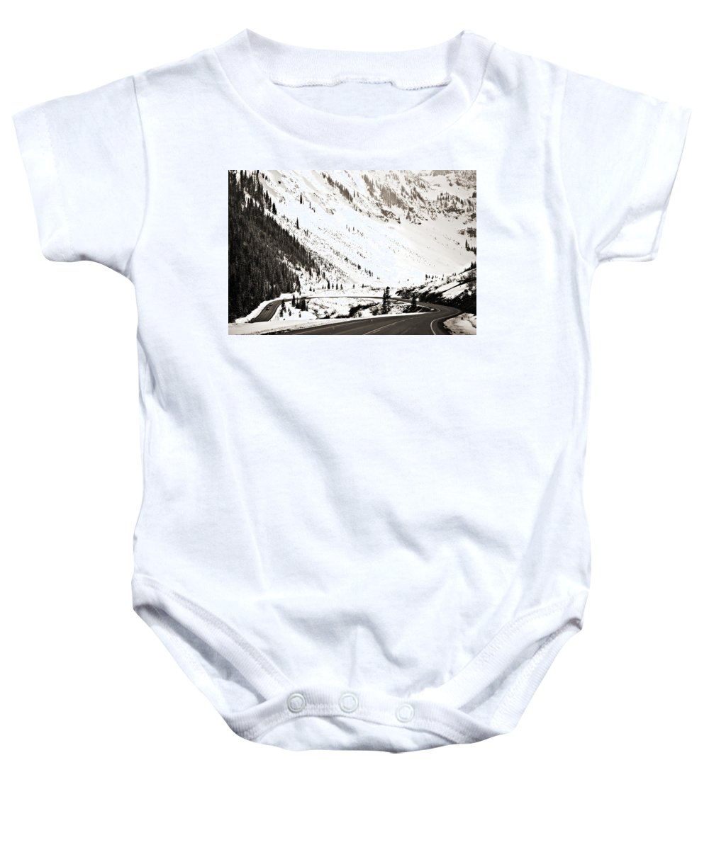 Curve Baby Onesie featuring the photograph Hairpin Turn by Marilyn Hunt