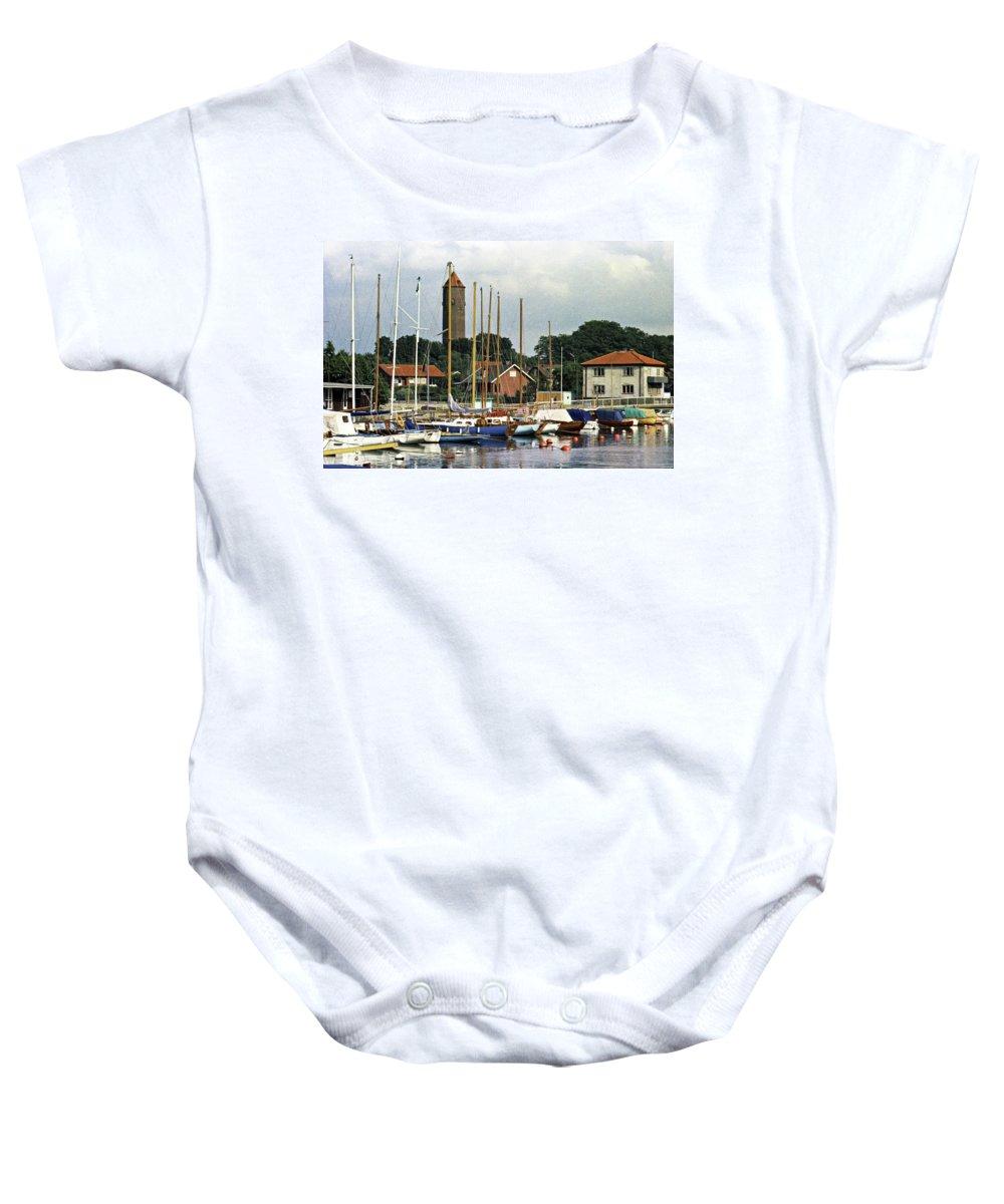 Sweden Baby Onesie featuring the photograph Halsingborg Marina 2 by Lee Santa
