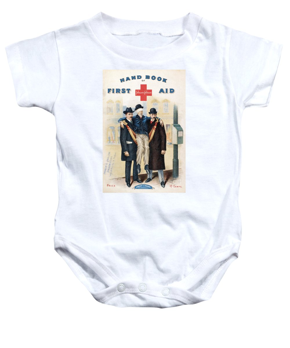 19th Century Baby Onesie featuring the photograph Handbook: First Aid by Granger
