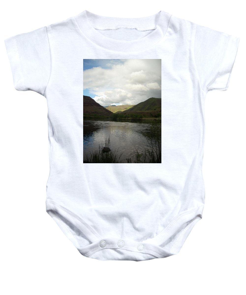 Water Baby Onesie featuring the photograph Happy Place by Sara Stevenson